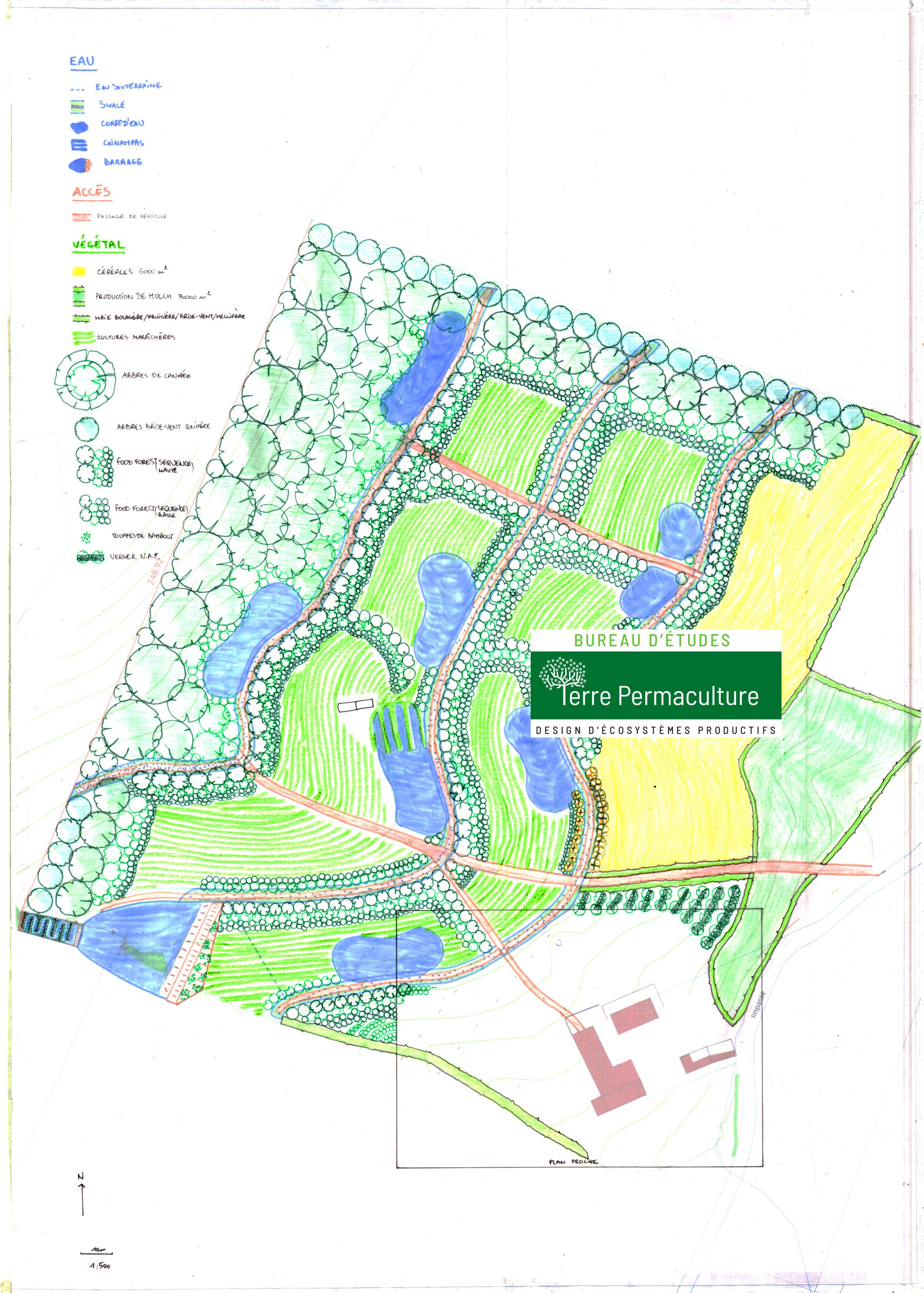 Grand plan général ferme en permaculture louis-romain plumerault designer